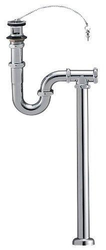 YAZAWA S・P兼用トラップ 洗面用品 オーバーフロー用 床排水・壁排水兼用 アジャスト付 排水栓外径:68mm H7010-38【smtb-s】