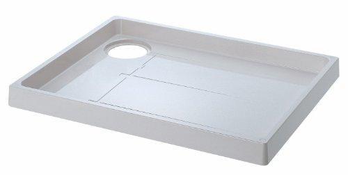 YAZAWA 洗濯機パン トラップ穴右側 寸法:800×640mm アイボリーホワイト H541-800R【smtb-s】
