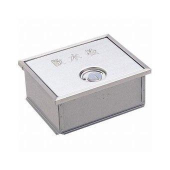 YAZAWA カギ付散水栓ボックス(床面用) ガーデニング ヘアライン仕上 外寸:190×235×95mm R81-6【smtb-s】