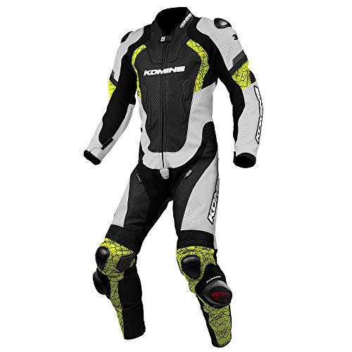 KOMINE(コミネ) S-52 Racing Leather Suit White/Neon L 品番:02-052/WH/N/L【smtb-s】
