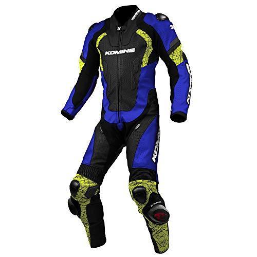 KOMINE(コミネ) S-52 Racing Leather Suit Blue/Neon L 品番:02-052/BL/N/L【smtb-s】