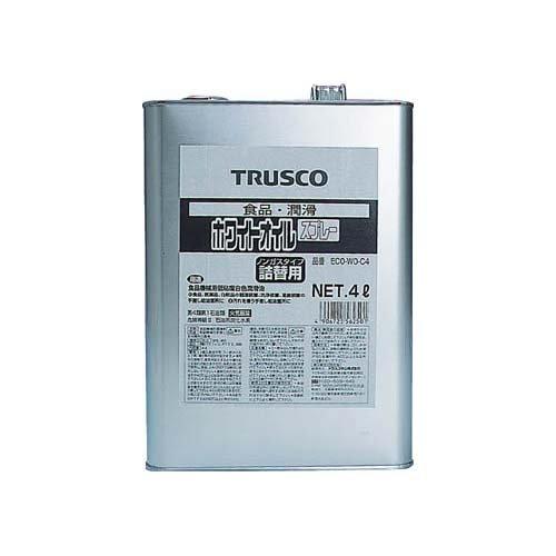 TRUSCO TRUSCO αホワイトオイルスプレー 4L ECO-WO-C4 5123097【smtb-s】