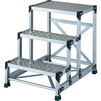 TSFC3675TRUSCO アルミ合金製作業台 縞鋼板 3段 高さ0.75m 600X4008557683【smtb-s】