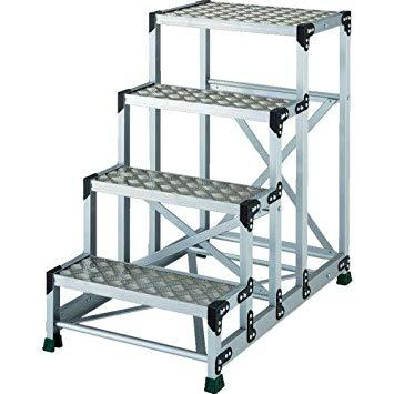 TSFC4610TRUSCO アルミ合金製作業台 縞鋼板 4段 高さ1.00m 600X4008557684【smtb-s】