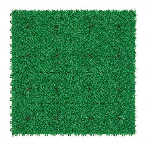 テラモト ユニットターフ α600 緑 600×600(MR0013881)【入数:10】【smtb-s】