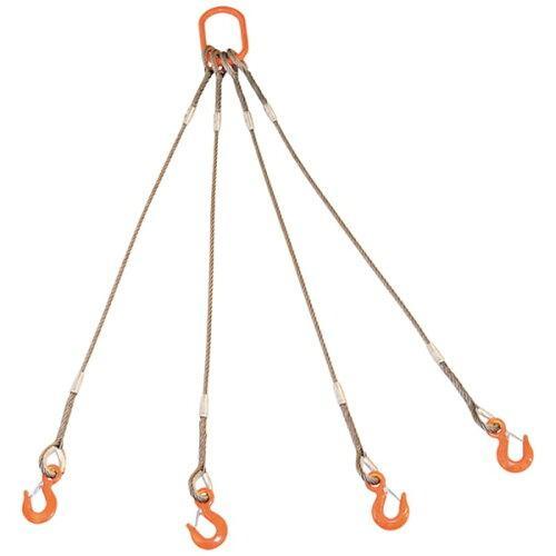 トラスコ中山 TRUSCO 4本吊りWスリング フック付き 12mmX1.5m code:8191732【smtb-s】