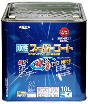 アサヒペン 水性スーパーコート 10L アイボリー【smtb-s】