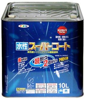 アサヒペン 水性スーパーコート 10L 空色【smtb-s】