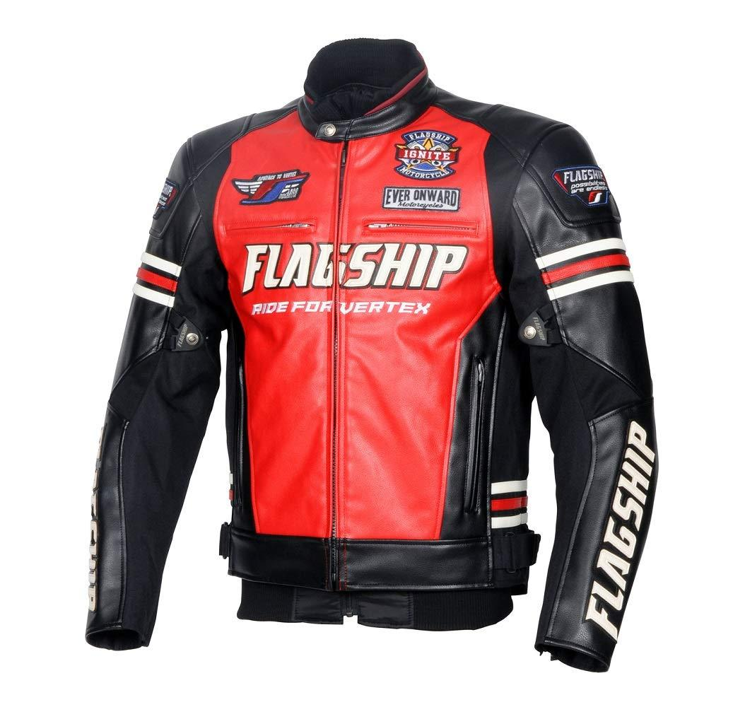 Red LL Ignite FLAGSHIP Leather フラッグシップ(Flagship) (イグナイトPUレザージャケット) Jacket 品番:FJ-W193RDLL【smtb-s】 PU FJ-W193 フラッグシップ