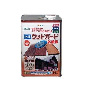 アサヒペン 水性ウッドガード外部用 14L パイン 15【smtb-s】