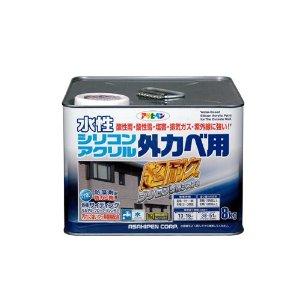 アサヒペン 水性シリコンアクリル外かべ用 8KG ウィニーグリーン【smtb-s】