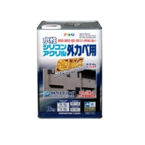 アサヒペン 水性シリコンアクリル外かべ用 16KG ホワイト【smtb-s】