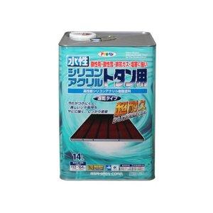 アサヒペン 水性シリコンアクリルトタン用 14L 赤さび【smtb-s】