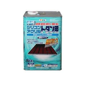 アサヒペン 水性シリコンアクリルトタン用 14L うす茶【smtb-s】