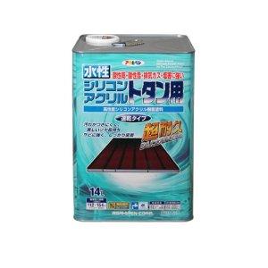 アサヒペン 水性シリコンアクリルトタン用 14L スカイブルー【smtb-s】
