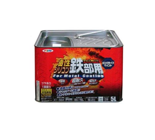アサヒペン 油性シリコン鉄部用 5L アイボリー【smtb-s】