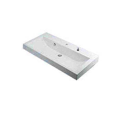 カクダイ 角型洗面器//1ホール・ポップアップ穴付き 493-070-1000H【smtb-s】