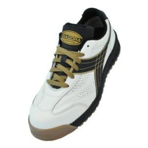 ※ドンケル DIADORA 安全作業靴 ピーコック 白/黒 24.5cm PC12245  4321 3881636【smtb-s】