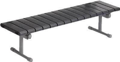 テラモト QuickStep (ベンチ) 1500 ダークグレー 背なし BC3101157【smtb-s】