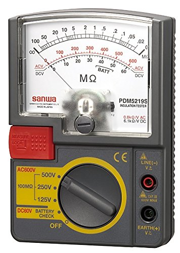 三和電気計器 SANWA アナログ絶縁抵抗計 500V/250V/125V PDM5219S【smtb-s】