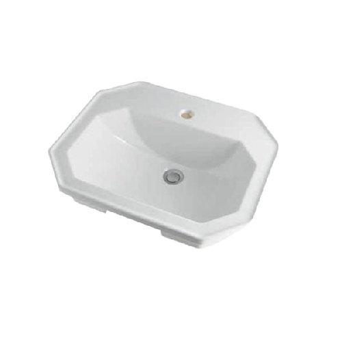 カクダイ 角型洗面器//1ホール #DU-0476580000【smtb-s】
