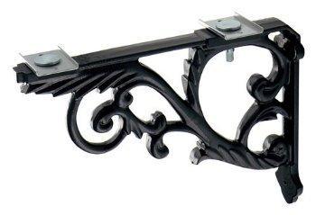 カクダイ ブラケット//鋳鉄、黒色塗装 250-005-D【smtb-s】