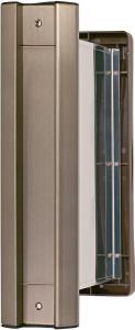 水上金属 No.2000ポスト タテ型 内フタ付気密型 厚壁用 アンバー 【001-5861】【smtb-s】