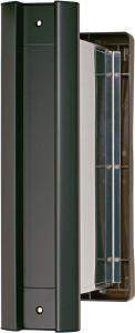 水上金属 No.2000ポスト タテ型 内フタ付気密型 厚壁用 黒 【001-5862】【smtb-s】