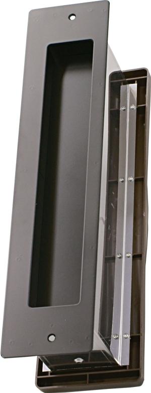 水上金属 No.3000ポスト タテ型 内フタ付気密型 厚壁 黒 【001-5938】【smtb-s】