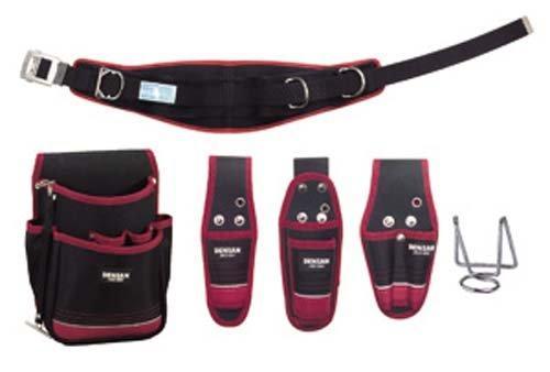 デンサン/ジェフコム ジェフコム JNDS2-R300BK-SET 電工プロ腰道具セット 管理コード:6636【smtb-s】