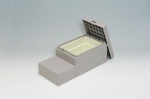 城東テクノ CUB-6040S 400×900×350(175)mm小ステップあり 【居住地のみのお届け】【smtb-s】