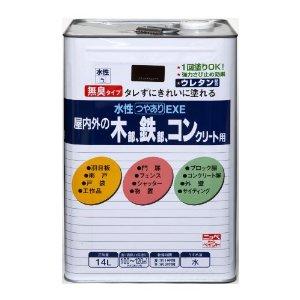 ニッペホームプロダクツ ニッペ 水性つやありEXE 14L ブラツクチョコレート【smtb-s】