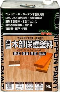 ニッペホームプロダクツ ニッペ 油性木部保護塗料 14L 透明クリヤー【smtb-s】