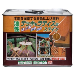 ニッペホームプロダクツ ニッペ 油性デッキ&ラティス用 7L チーク【smtb-s】