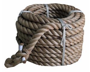 まつうら工業 綱引きロープ(麻) 太さ38ミリ径X約50m【smtb-s】