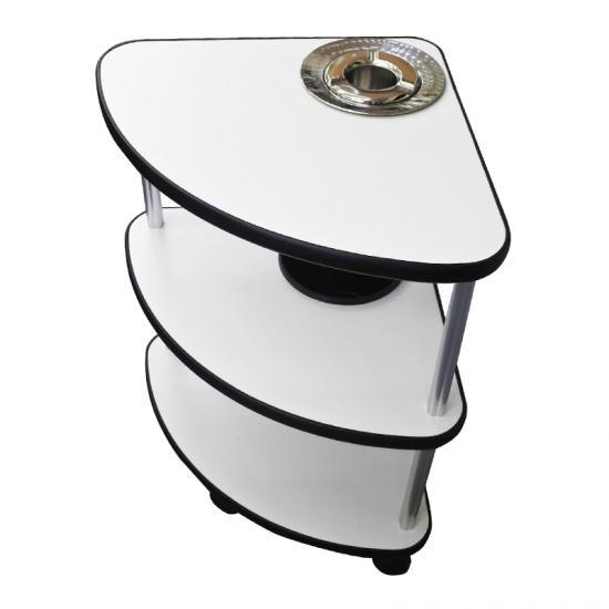 サイドテーブル レギュラーサイズ 灰皿用穴あり(灰皿付き)