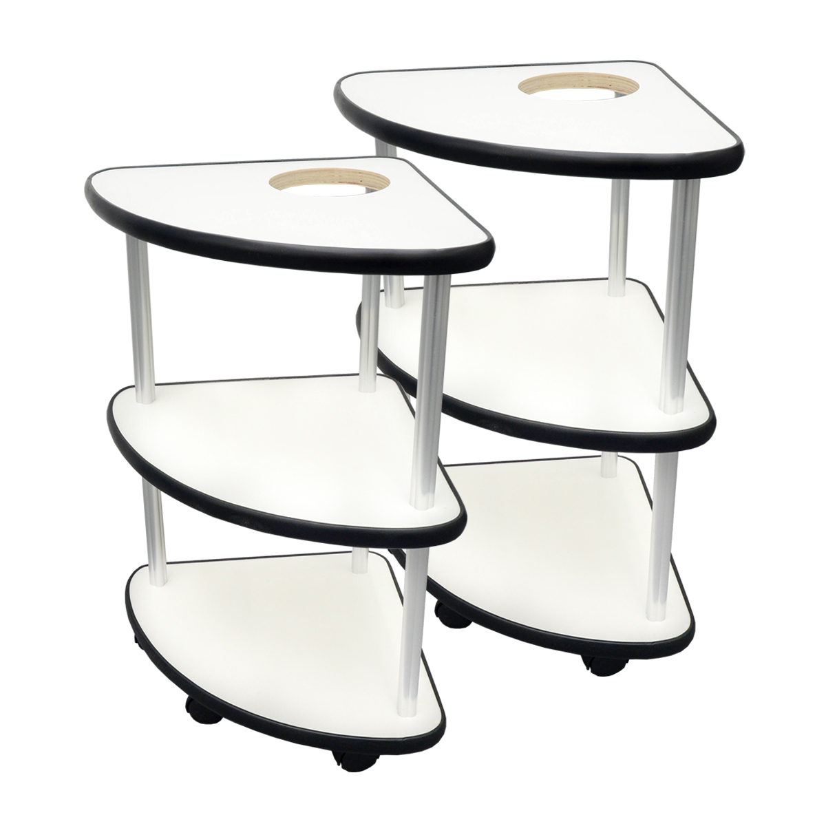ミニサイドテーブル 2台セット 灰皿用穴あり(灰皿なし)