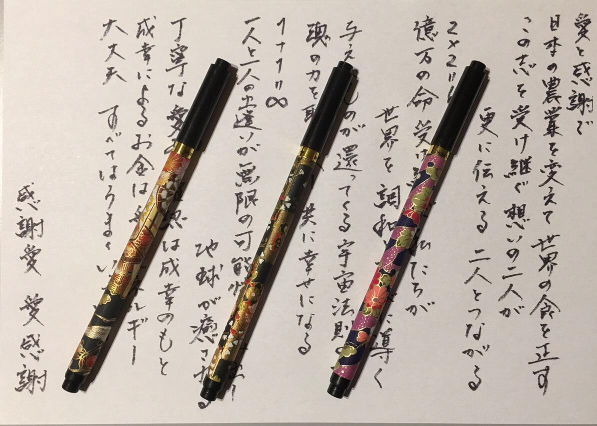 【送料無料】不思議筆ペン~ペイフォワードブラッシュ(PFB)~ 1万人が体験した不思議色鉛筆のエネルギーを転写した筆ペン不思議アイテム波動グッズ