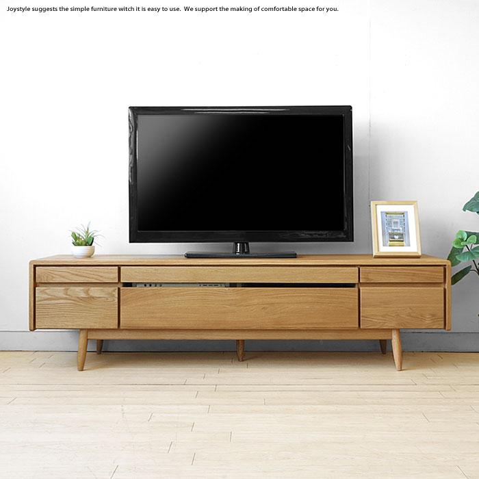 開梱設置配送 幅180cm 北欧モダン 北欧テイスト 丸みのある優しいデザイン ナラ無垢材 オイル仕上げ テレビ台 テレビボード LEICESTER-TV180