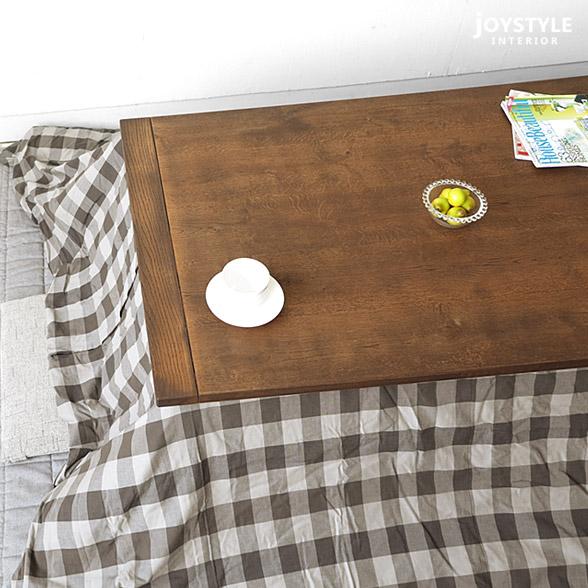 幅120cmナラ材ホワイトオーク無垢材木製こたつ炬燵シーズンオフには座卓やローテーブルとても使える素材感たっぷりの国産こたつDIVE-120BRブラウン色