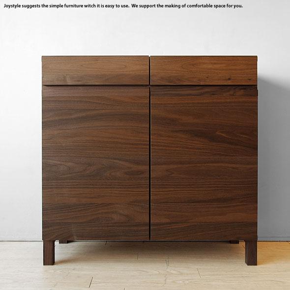 幅90cm奥行40cmの薄型設計 ウォールナット材 ウォールナット無垢材 ウォールナット天然木 木製 大容量の収納力 本棚 サイドボード チェスト キャビネット