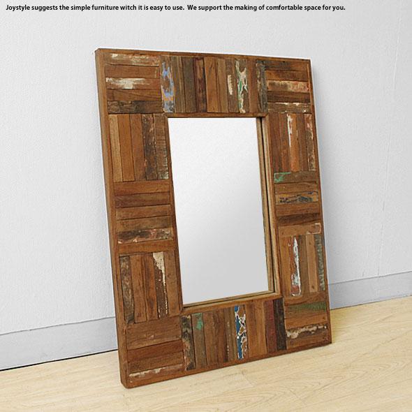 在庫有り 壁掛け鏡 Sサイズ オールドチーク材 壁掛けミラー 木製 古材とアイアンを組み合わせた斬新でかっこいいウォールミラー 壁掛けミラー 壁掛け鏡 Sサイズ, シルバーアクセサリーAnFuseStore:f7bebc7e --- finfoundation.org