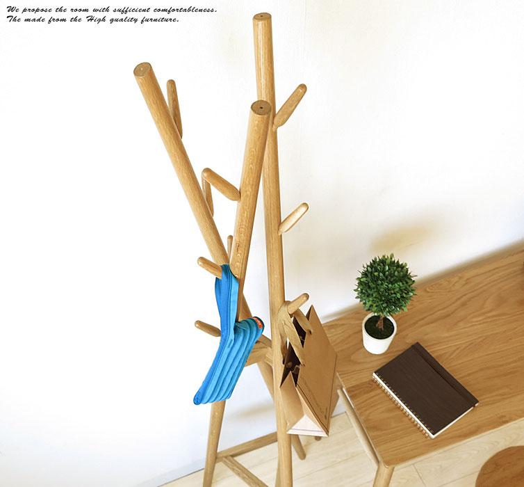 オーク材 オーク無垢材 オーク材 樹木をモチーフにした遊び心あるデザインのハンガースタンド 帽子や鞄 オーク無垢材、コートを掛けたりするのに便利, 豊根村:39750ab2 --- angelavendeghaza.hu