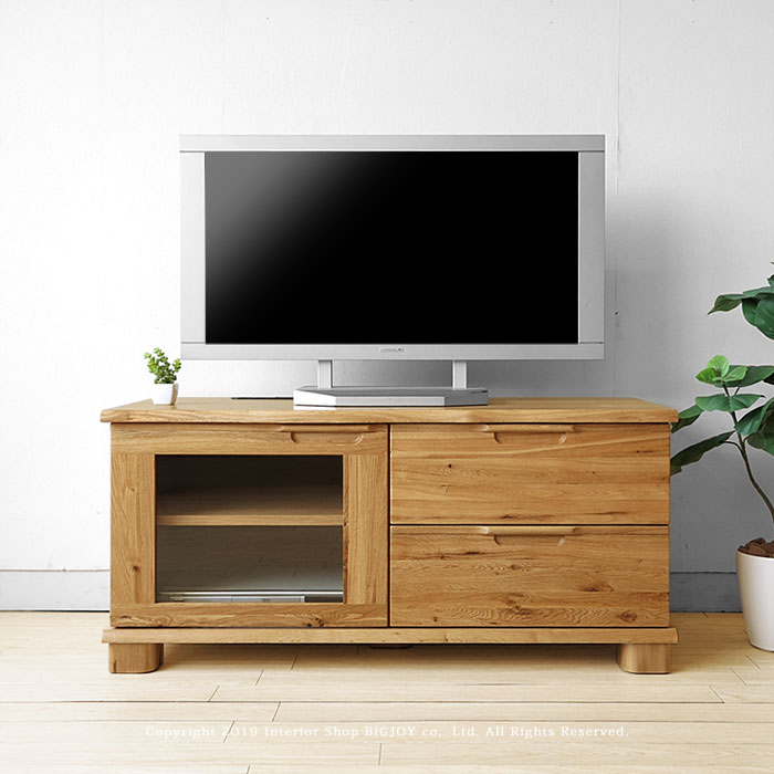 開梱設置配送 ナラ無垢材 ハイタイプ テレビボード HORN-TV110H