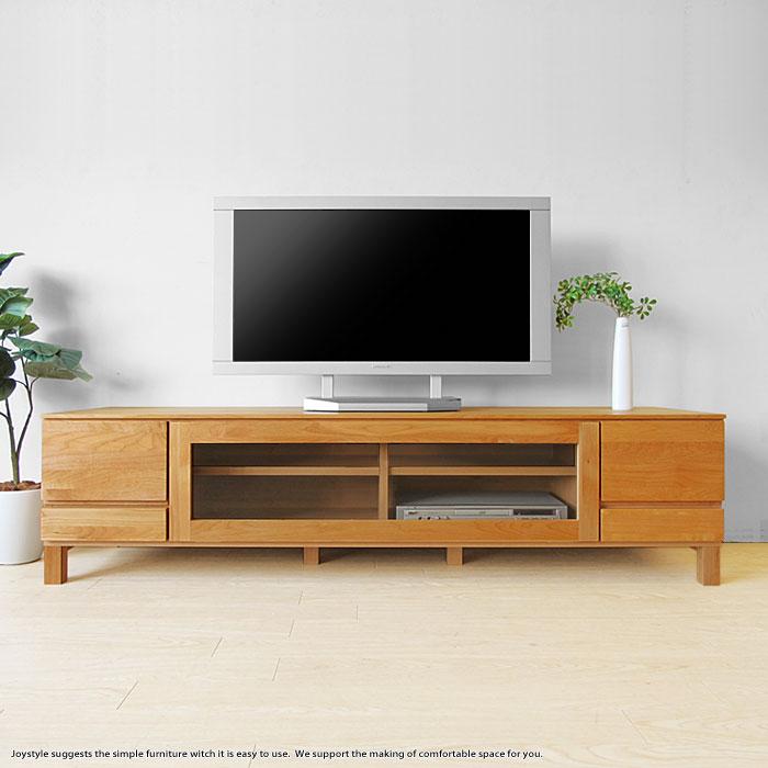 開梱設置配送 幅162cm アルダー材 アルダー無垢材 オイル仕上げ テレビ台 シンプルモダンデザイン テレビボード