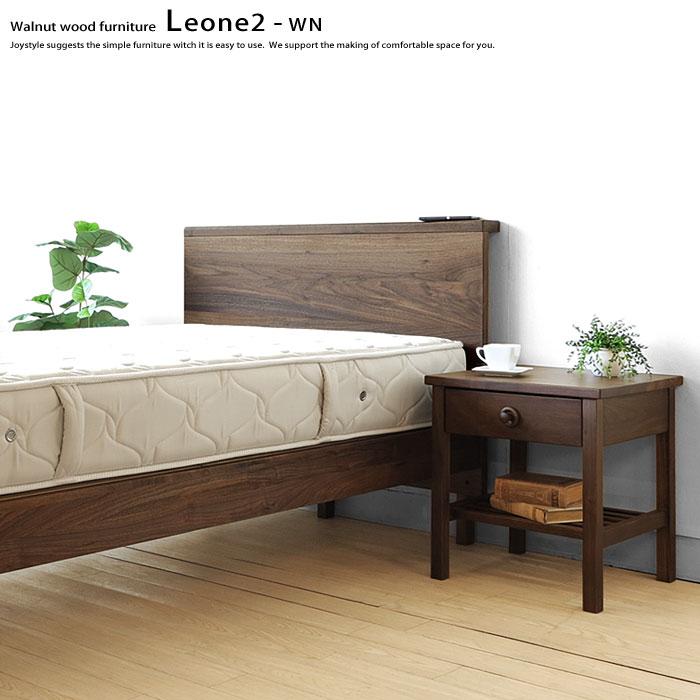 シングルベッド 開梱設置配送 シングルサイズ ウォールナット材 ウォールナット無垢材 高級感が魅力のロータイプのベッドフレーム スノコベッド ロータイプ、ハイタイプの2段階の高さ調節ができます LEONE2-WN