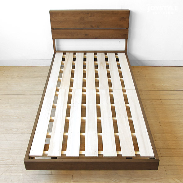 Two Colors Of Bed Frame Paulownia Drainboard Bed Domestic Production Bed XIAN Walnut Color Natural Color Development Of A Low Type Featuring A Feel Of