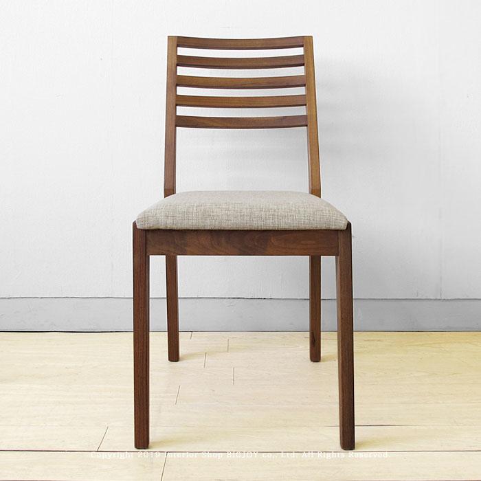 ダイニングチェア 受注生産商品 ウォールナット材 ウォールナット無垢材 木製椅子 シンプルなスタイル スタンダードなデザインのイス HORIZONーWN ※ブラックチェリー材、アルダー材でもオーダー可能