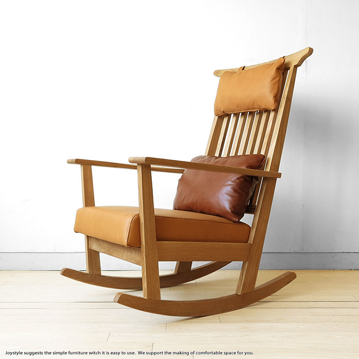 Oak Rocking Chair Oak Solid Wood With Luxury Wood Oak Natural Wood Sections  And Use Covering Material With Leather Cushion Chair Wooden Chair SOHIE  Rocking ...