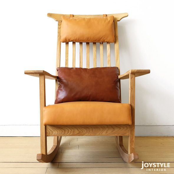 Oak Rocking Chair Can Feel Gentle Wood Solid Wood With Luxury And Natural  Wood Texture. Stout Presence With Two Tone Cushions In The Living Room  Gives The ...